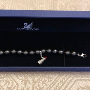 Swarovski bracelet with lipstick charm 💄